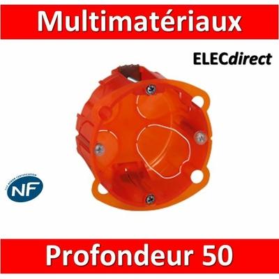 Legrand Batibox - Boîte multimatériaux 1 poste profondeur 50 mm - 080121