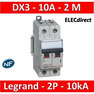 Legrand - Disjoncteur bipolaire DX3 10A - 10kA - courbe C - 407782