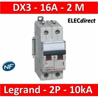 Legrand - Disjoncteur bipolaire DX3 16A - 10kA - courbe C - 407784