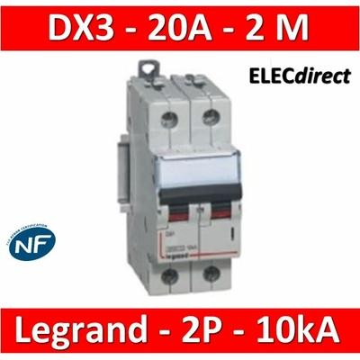 Legrand - Disjoncteur bipolaire DX3  20A - 10kA - courbe C - 407785