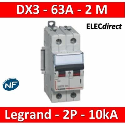 Legrand - Disjoncteur bipolaire DX3 63A - 10kA - courbe C - 407790