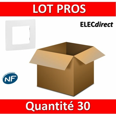 Legrand Niloé - LOT PROS - Plaque simple - Blanc - 665001x30
