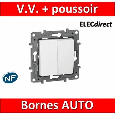 Legrand Niloé - Va et Vient 10A + poussoir Blanc - 664709