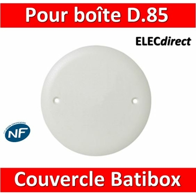 Legrand Batibox - Couvercle universel D85mm - pour boîte 1 poste - 080180