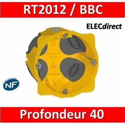 Legrand Batibox - Boîte d'encastrement 1 poste BBC - Prof. 40 - 080021