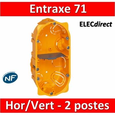 Legrand Batibox - Boîte d'encastrement 2 postes - Prof. 40 - 080042