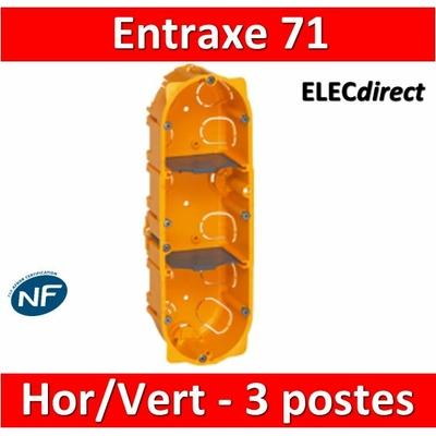 Legrand Batibox - Boîte d'encastrement 3 postes - Prof. 40 - 080043