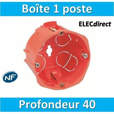 SIB - Boîte simple 1 poste Profondeur 40mm - 16840