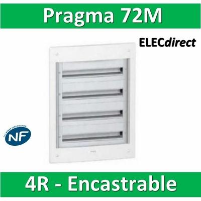 Schneider - Coffret électrique PRAGMA - encastré - 72 modules - 4 rangées de 18M - PRA32418