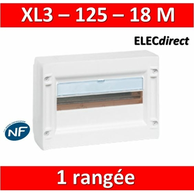 Legrand - Coffret de distribution 18 modules - 1 rangée de 18M - XL3 125 - 401611