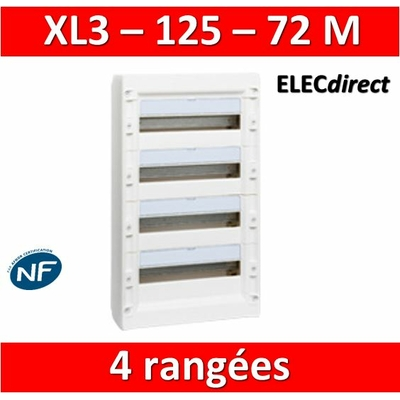 Legrand - Coffret de distribution 72 modules - 4 rangées de 18M - XL3 125 - 401614