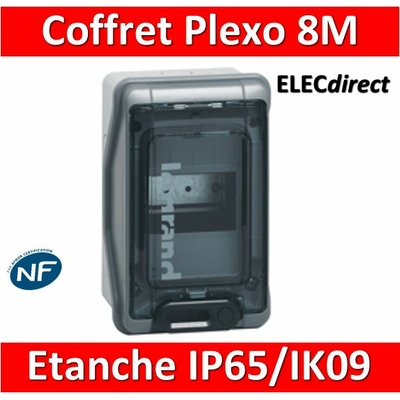 Legrand - Coffret étanche Plexo 8 modules - IP65/IK09 - 001908