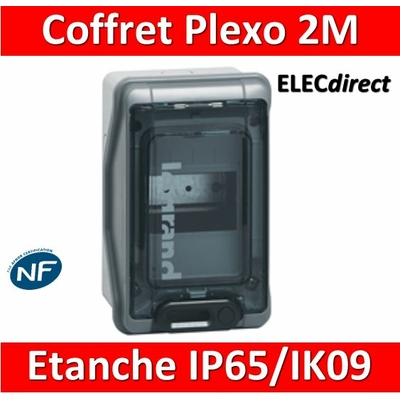 Legrand - Coffret étanche Plexo 2 modules - IP65/IK09 - 001902