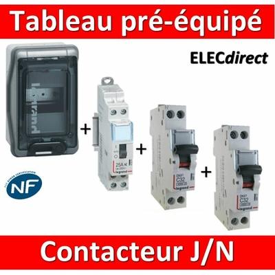 Legrand - LOT PROS - Coffret étanche Plexo 4 modules pré-équipé - contacteur J/N + protection 2A + 20A