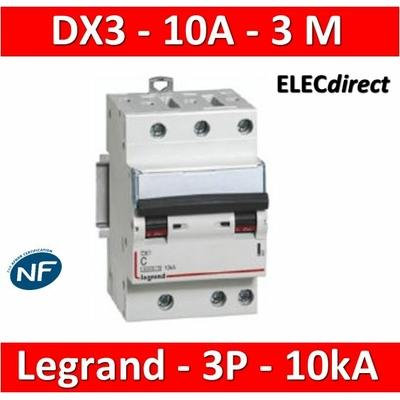 Legrand - Disjoncteur 3P DX3 10A - 10kA - courbe C - 407827
