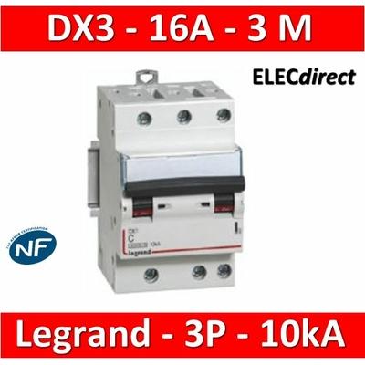 Legrand - Disjoncteur 3P DX3 - 16A - 10kA - courbe C - 407829