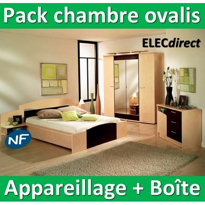 Schneider Ovalis - Pack chambre Appareillage + boîte - complet - NFC15100