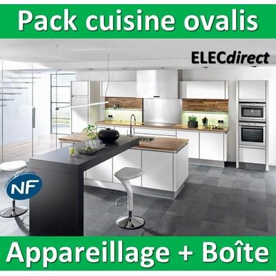 Schneider Ovalis - Pack cuisine Appareillage + boîte - complet - NFC15100