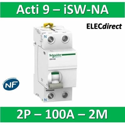 Schneider - Interrupteur-sectionneur bipolaire 100A à déclenchement - Acti9 - ISW-NA - A9S70690