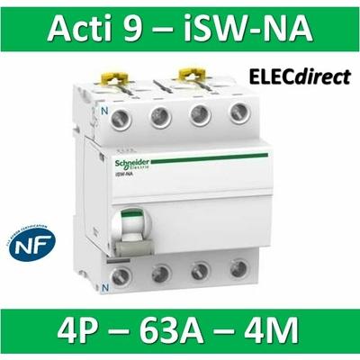 Schneider - Interrupteur-sectionneur 63A à déclenchement Tétrapolaire - Acti9 - ISW-NA - A9S70763