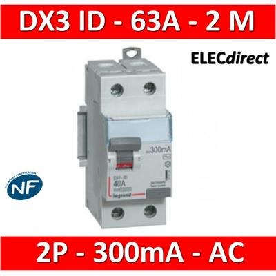 Legrand - Interrupteur différentiel 2 x 63A - 300mA  - Type AC - 411526