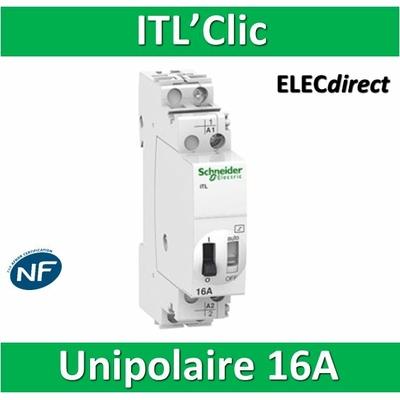 Schneider - Acti 9 ITL Télérupteur - Unipolaire - 16A 1NO - A9C30811