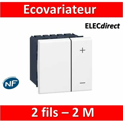 Legrand Mosaic - Interrupteur variateur ECOvariateur 2 fils 400W - 078407