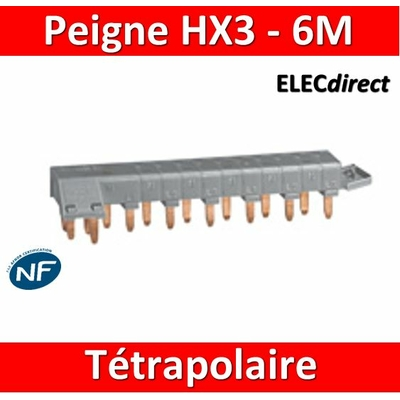 Legrand - Peigne HX3 optimisé tétrapolaire - 6 modules - 405200