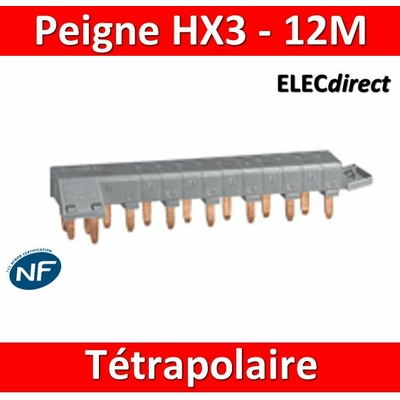 Legrand - Peigne HX3 optimisé tétrapolaire - 12 modules - 405201