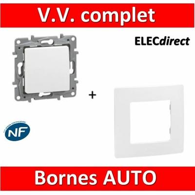 Legrand Niloé - Va et Vient 10A Blanc + plaque - 664701+665001