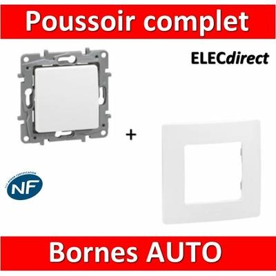 Legrand Niloé - Poussoir 6A Blanc + plaque - 664705+665001