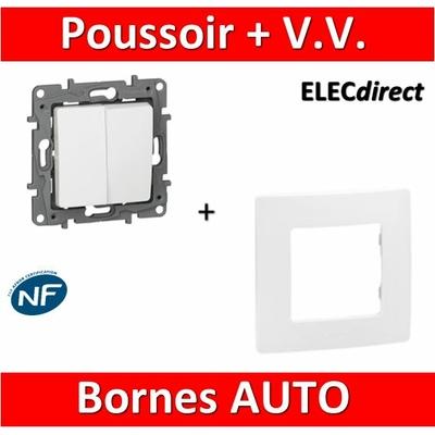 Legrand Niloé - Va et Vient 10A + poussoir Blanc + plaque - 664709+665001