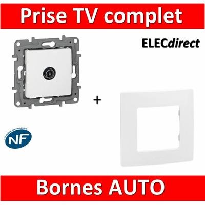 Legrand Niloé - Prise TV simple Blanc + plaque - 664751+665001