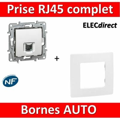 Legrand Niloé - Prise RJ45 cat 6 FTP Blanc + plaque - 664777+665001