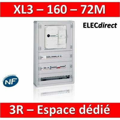 Legrand - Coffret de distribution 72 modules - avec espace dédié - XL3 160 - 401815