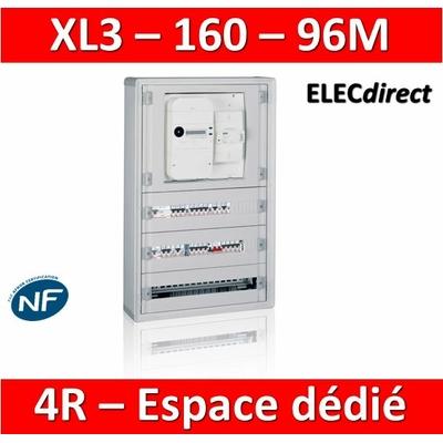 Legrand - Coffret de distribution 96 modules - avec espace dédié - XL3 160 - 401816