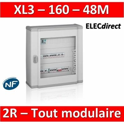 Legrand - Coffret de distribution 48 modules - 2 rangées de 24M - Tout modulaire - XL3 160 - 401802