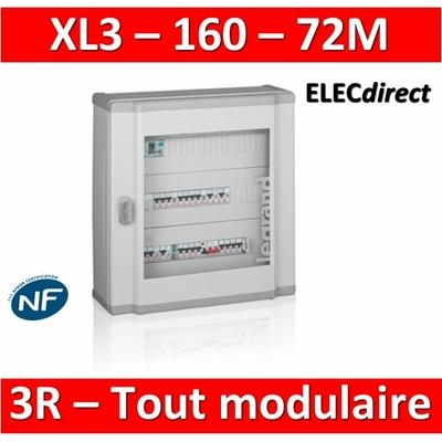 Legrand - Coffret de distribution 72 modules - 3 rangées de 24M - Tout modulaire - XL3 160 - 401803