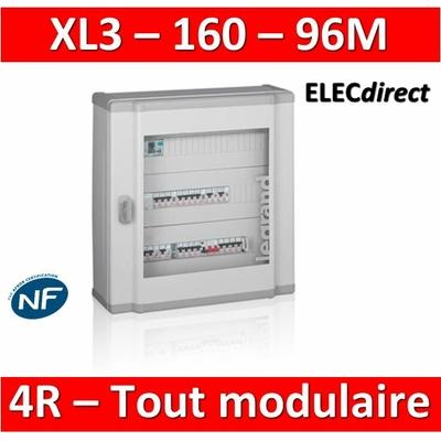 Legrand - Coffret de distribution 96 modules - 4 rangées de 24M - Tout modulaire - XL3 160 - 401804