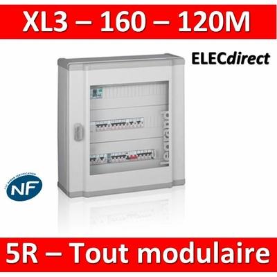 Legrand - Coffret de distribution 120 modules - 5 rangées de 24M - Tout modulaire - XL3 160 - 401805