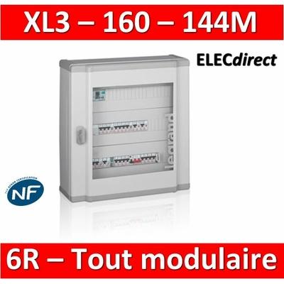 Legrand - Coffret de distribution 144 modules - 6 rangées de 24M - Tout modulaire - XL3 160 - 401806