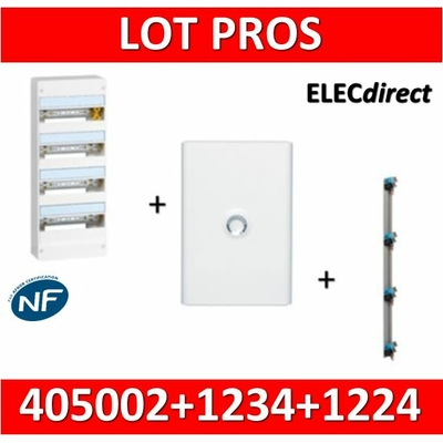 Legrand - LOT PROS - Coffret DRIVIA  72 Modules + porte + peigne VX3 - 401224+401234+405002