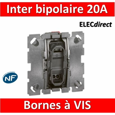 Legrand Céliane - Mécanisme Interrupteur bipolaire 20A - 067020