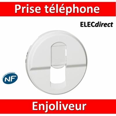 Legrand Céliane - Enjoliveur RJ45 pour réseau mixte et basic blanc - 068237