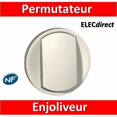 Legrand Céliane - Enjoliveur permutateur/va et vient - blanc - 068001