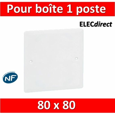 Legrand Batibox - Couvercle universel 80 x 80 - pour boîte 1 poste - 089281