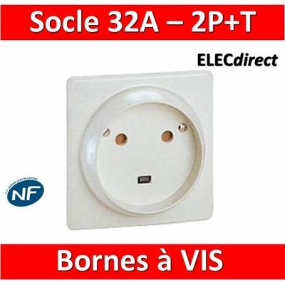 Legrand - Socle 32A - Plast - 2P+T - à VIS - éclips - 055812