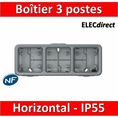 Legrand Plexo - Boîtier 3 postes horizontaux - IP55/IK07 - 069680
