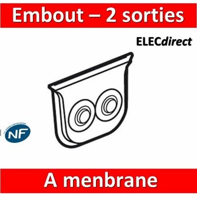 Legrand Plexo - Embout à menbrane 2 sorties - IP55/IK07 - 069599