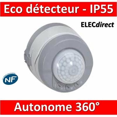 Legrand Plexo - Eco détecteur autonome 360° - IP55/IK04 - 069740